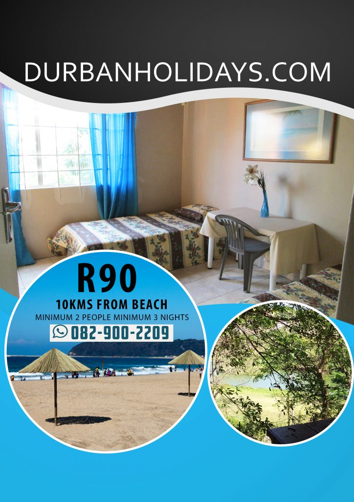 Durban holiday accommodation affordable2 R90